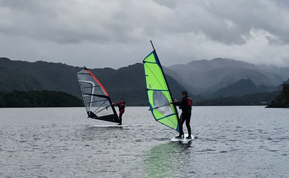Windsurfing on Derwent Water
