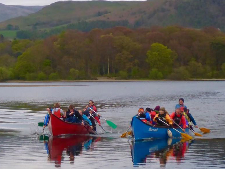 Group Canoe on Derwent Water