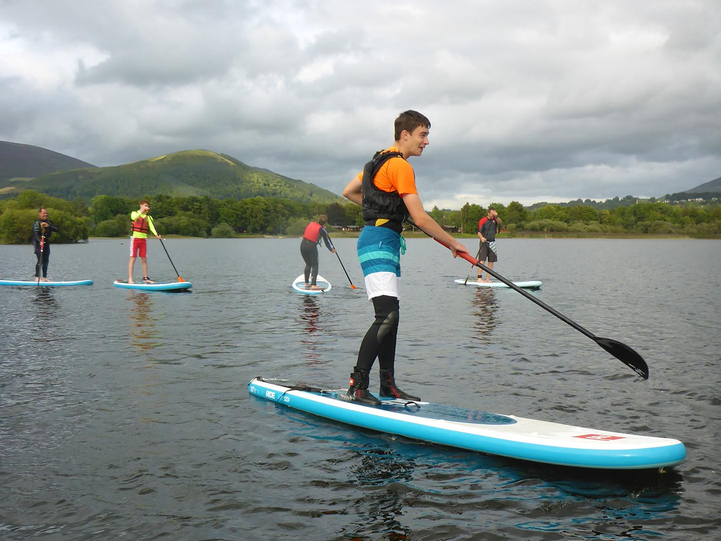 Paddleboarding in the Lake District