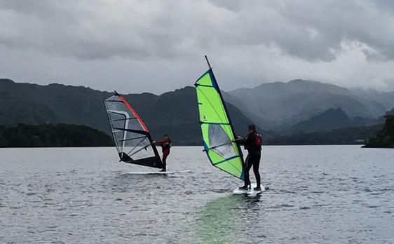 Windsurfing on Derwent Water